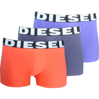 DIESEL LOT DE 3 BOXERS STRETCH 00SAB2-0AAMT BLEU & ROUGE