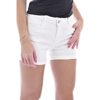 DEELUXE - Short à Revers Court & Uni - White Off