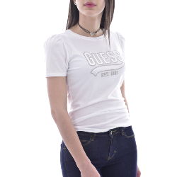 GUESS - Tee-shirt W1GI0H K46D0 Blanc Regular Fit Pour Femme