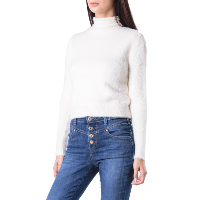 GUESS JEANS PULL DOUDOU W84R37 BLANC FEMME