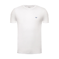 Emporio Armani Tee-shirt Blanc Manches Courtes Col Rond 111019 0p578